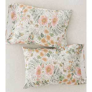 Urban Outfitters floral pillowcase set in pastel colors photo