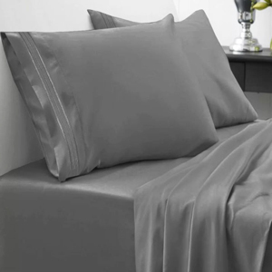 Gray 1500 thread count sheet set from Wayfair photo