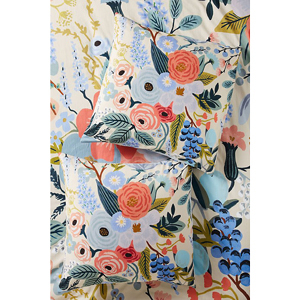 Colorful floral patterned pillowcases from Anthropologie photo