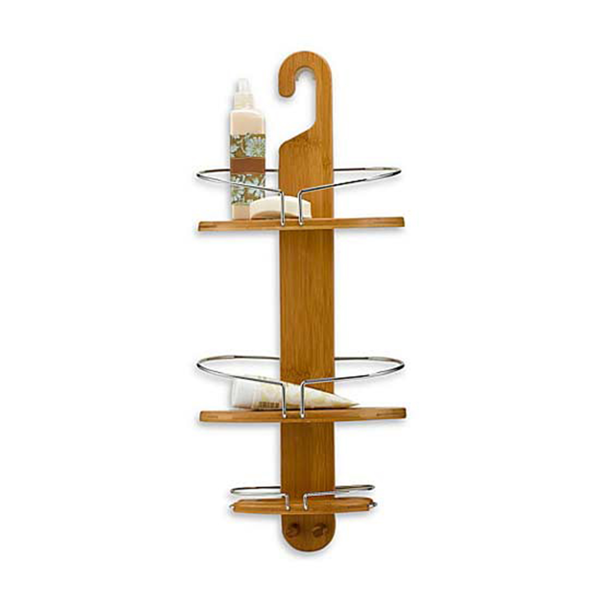 Bed Bath & Beyond bamboo shower caddy photo