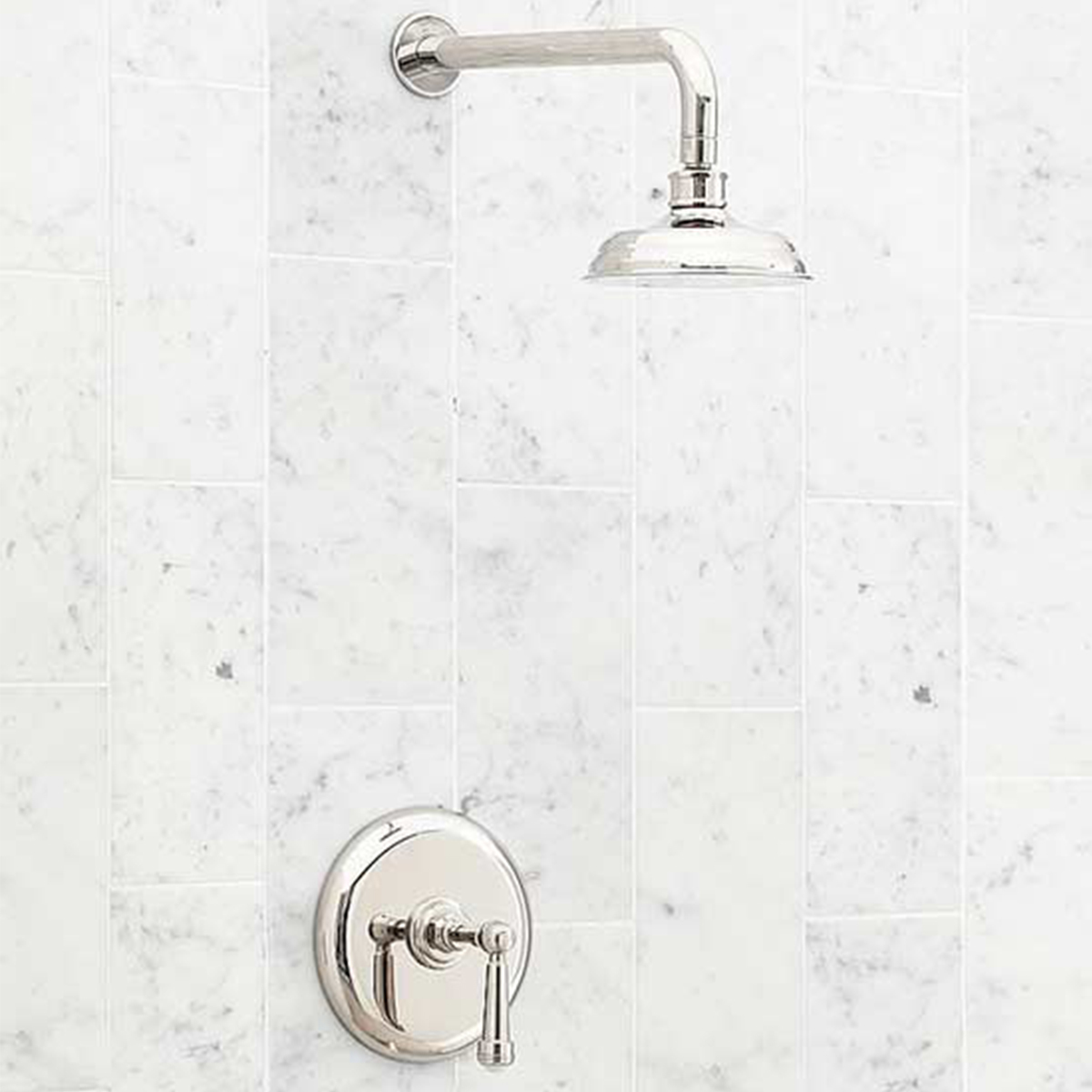Pottery Barn brass shower faucet photo