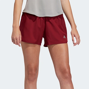 Red running shorts by Adidas photo