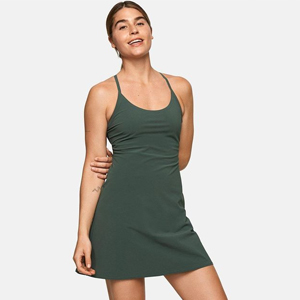 Forest green exercise dress from Outdoor Voices photo