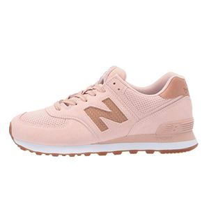 Blush New Balance sneakers from Zappos photo