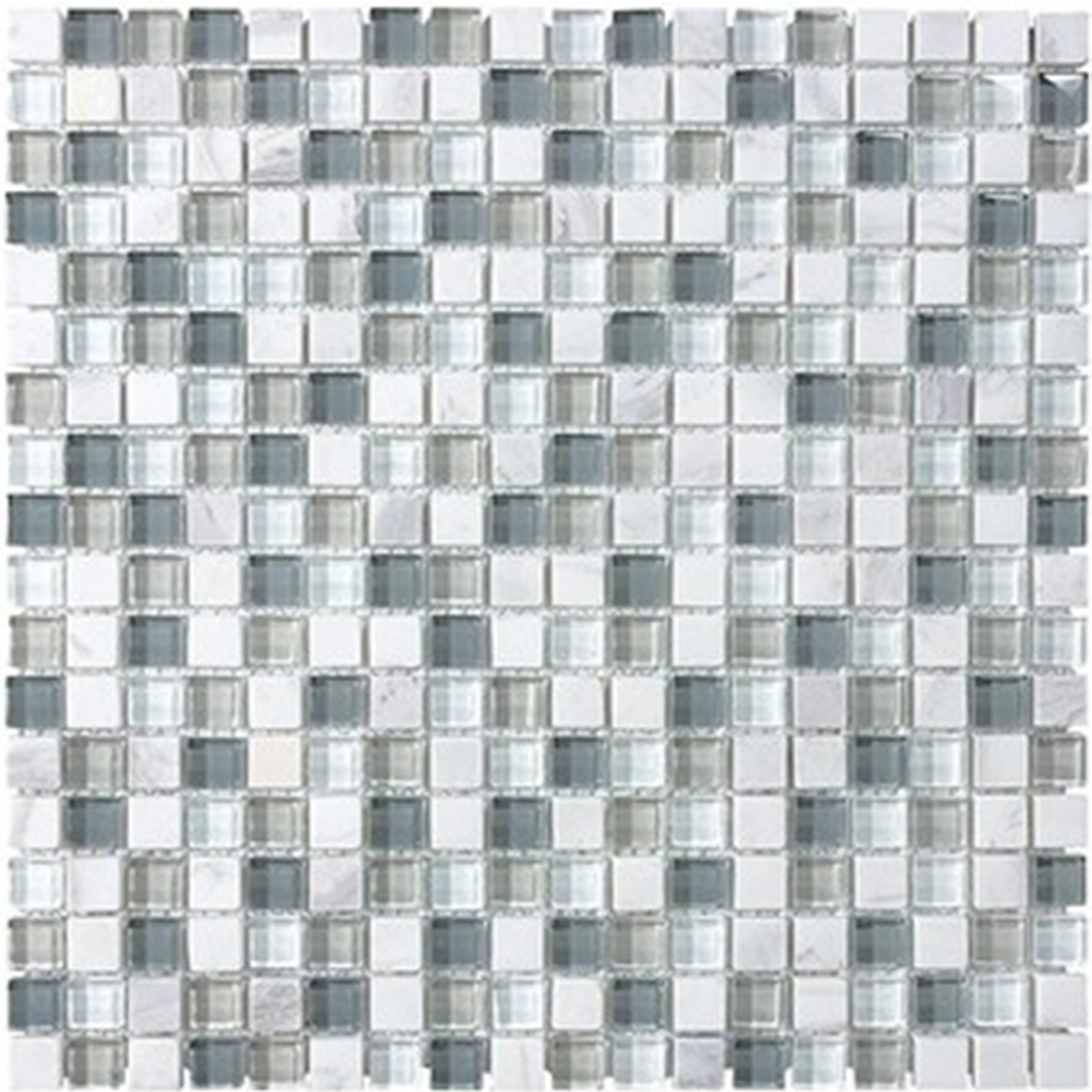 Small square tiles made of glass in different neutral shades photo