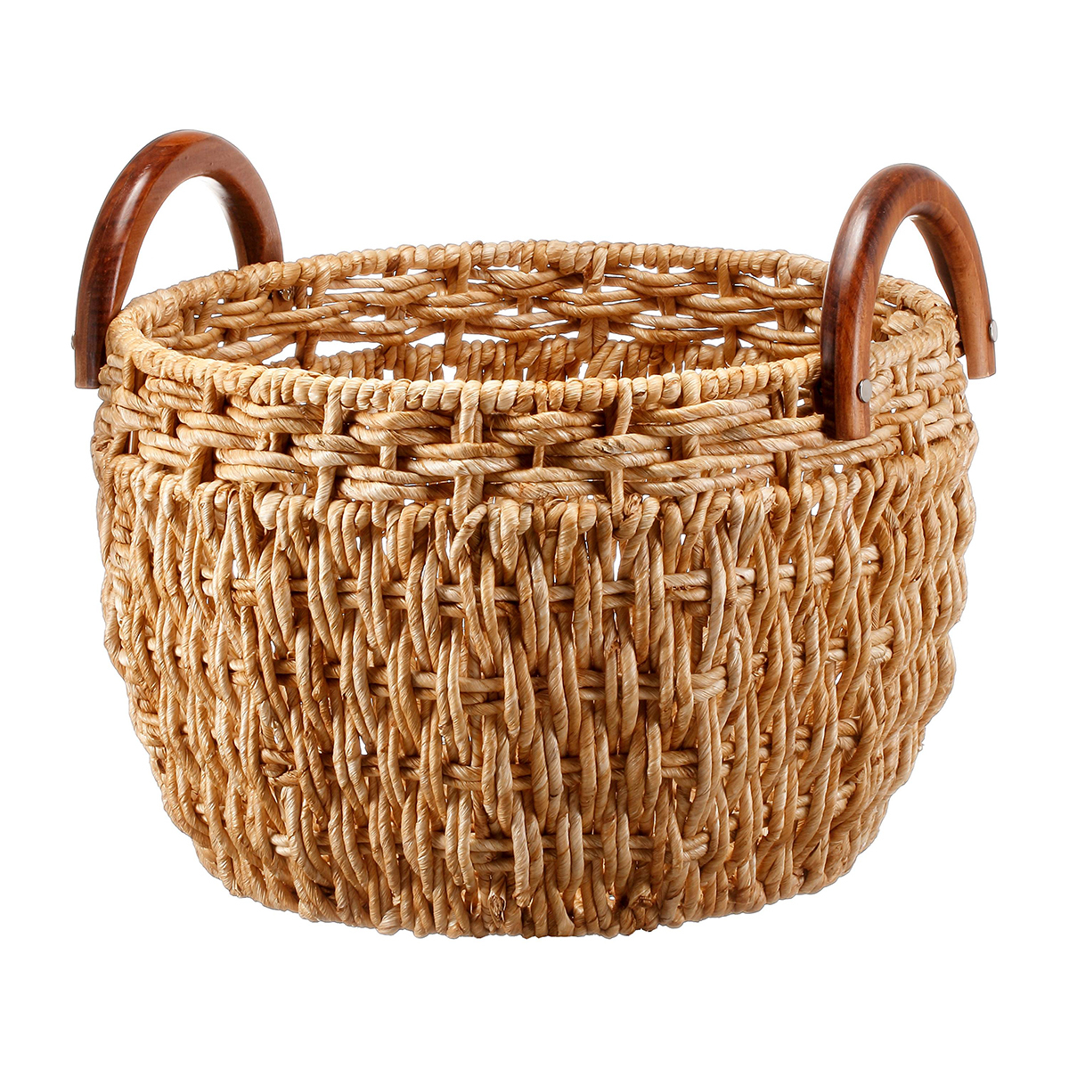 Classic wicker basket that provides some stylish storage. photo
