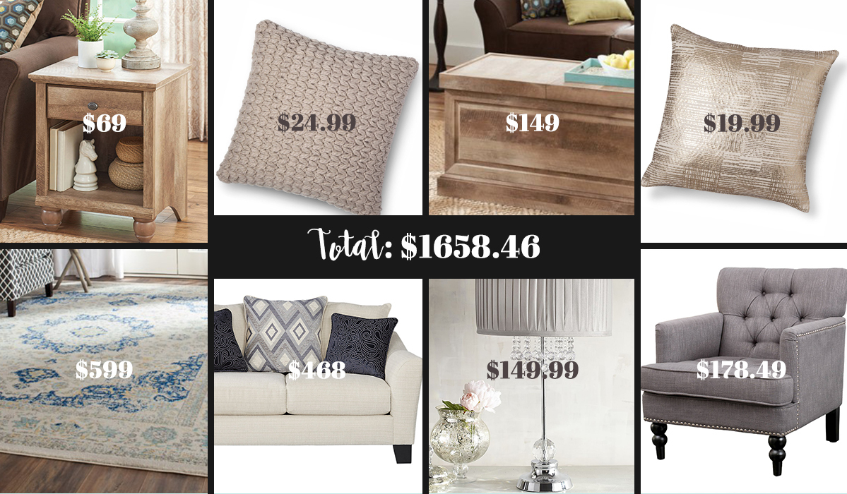 Redo Your Entire Living Room for Less Than $2000