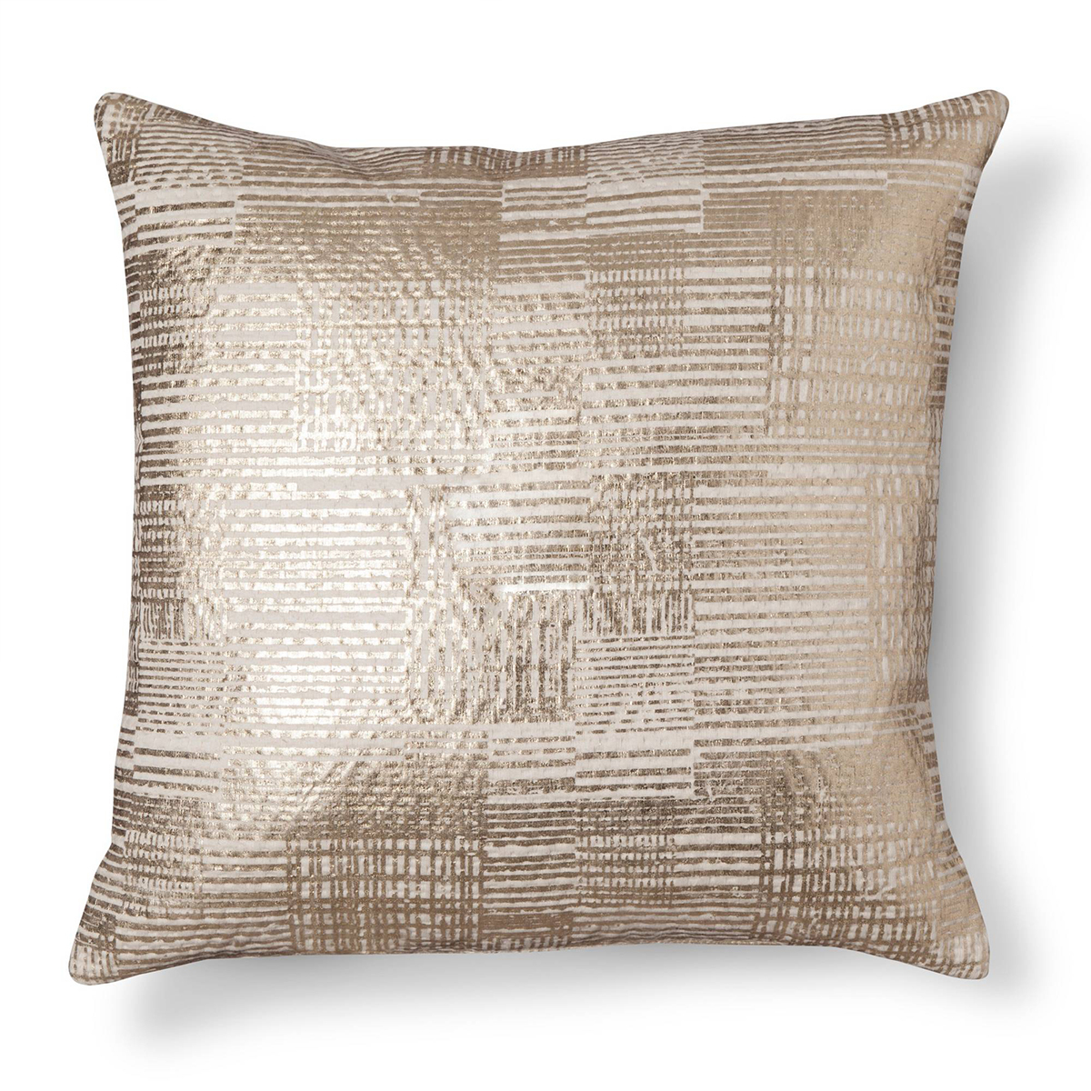 Square toss pillow in gold foil photo