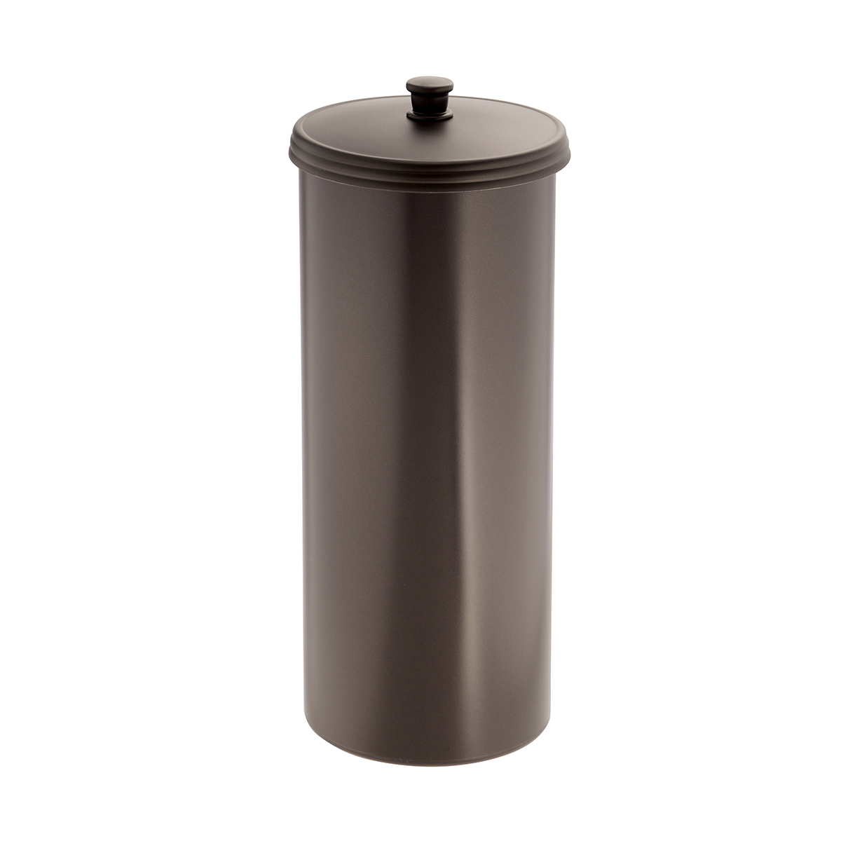 Tall bronze bathroom toilet paper canister from Walmart photo