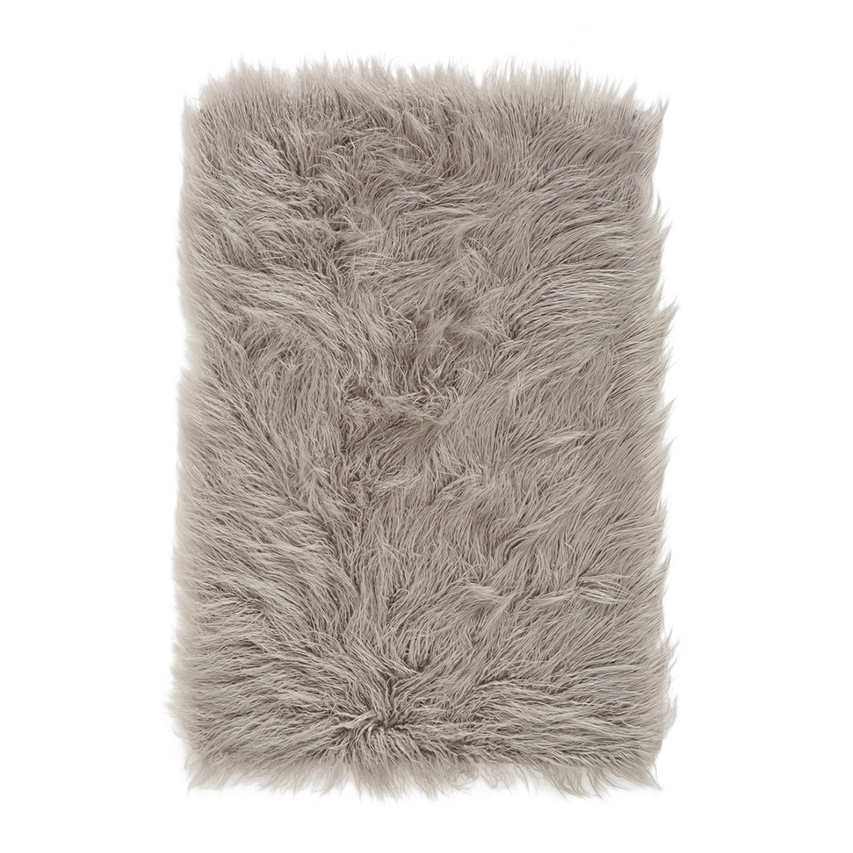 Gray plush faux fur bathroom rug from Nordstrom photo