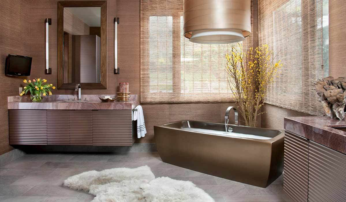 Whether you want to add a few accent pieces or do a complete bathroom makeover these shimmery products are sure to inspire you