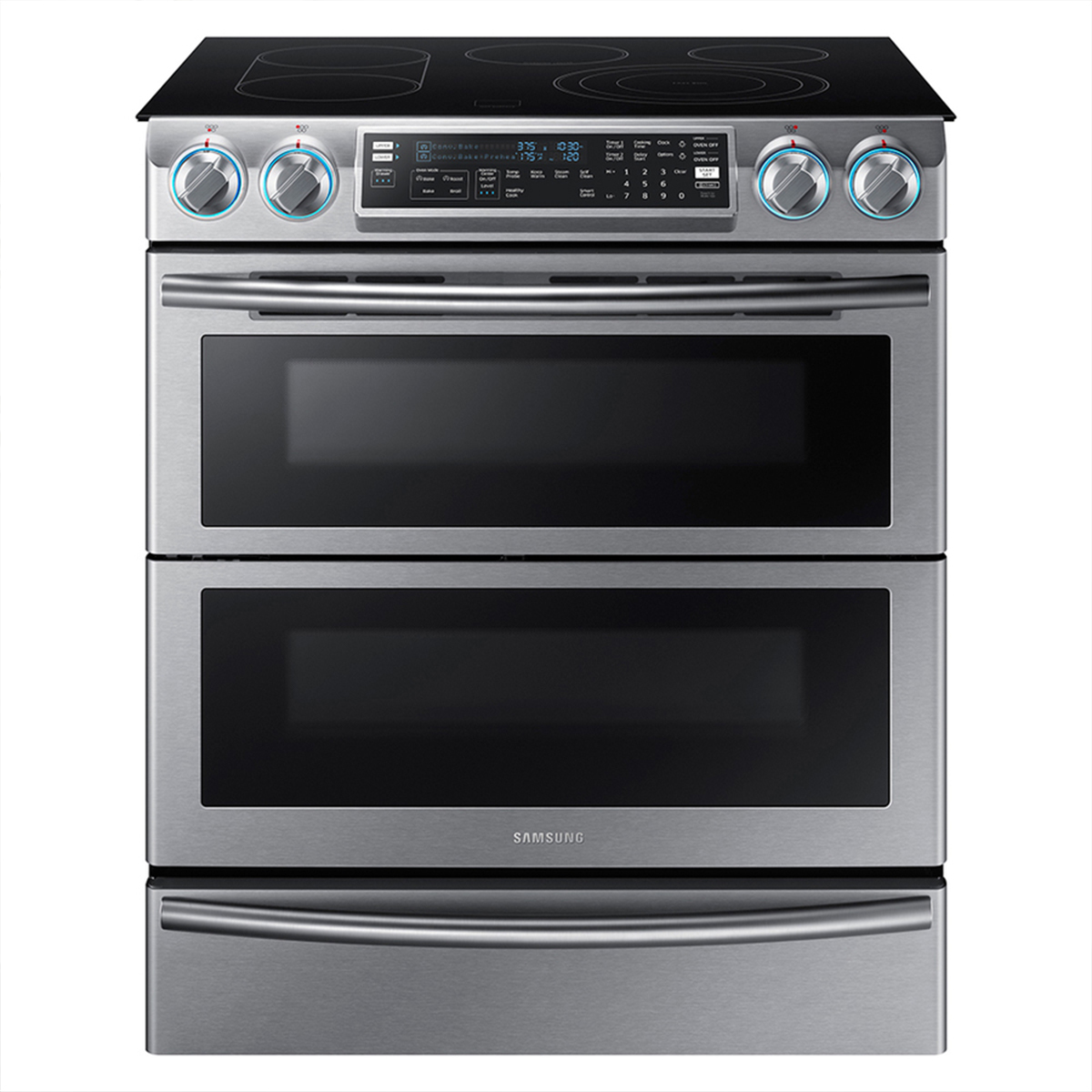 Samsung double oven with smartphone compatibility photo