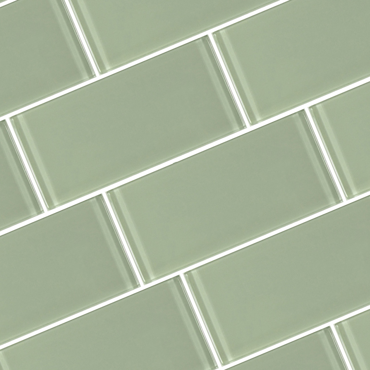Green glass subway tile for backsplash photo