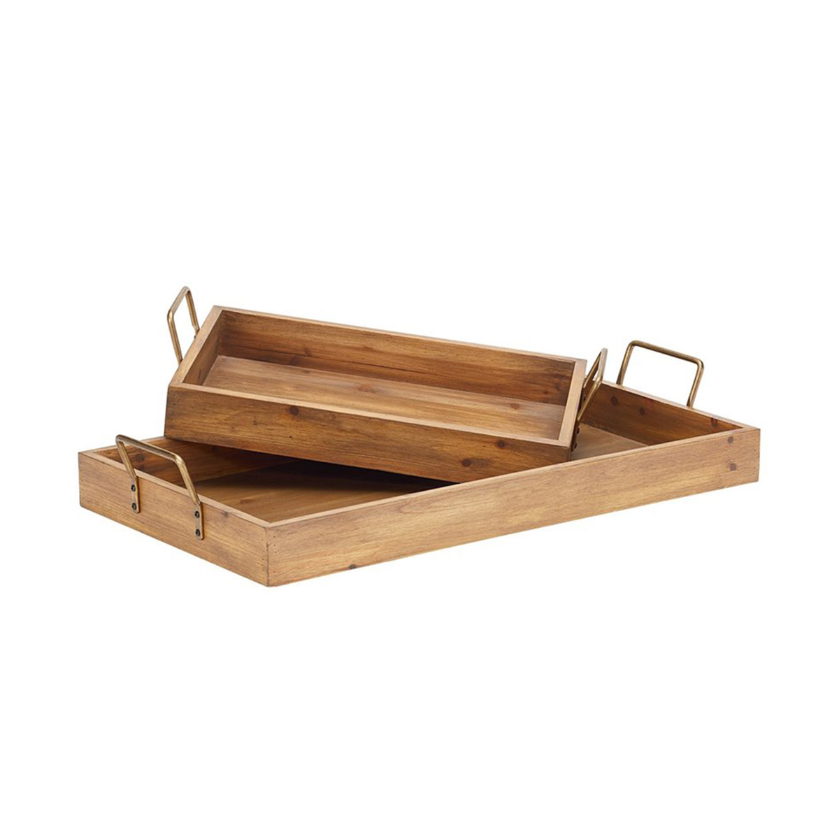 Set of two wooden trays by Magnolia Home photo