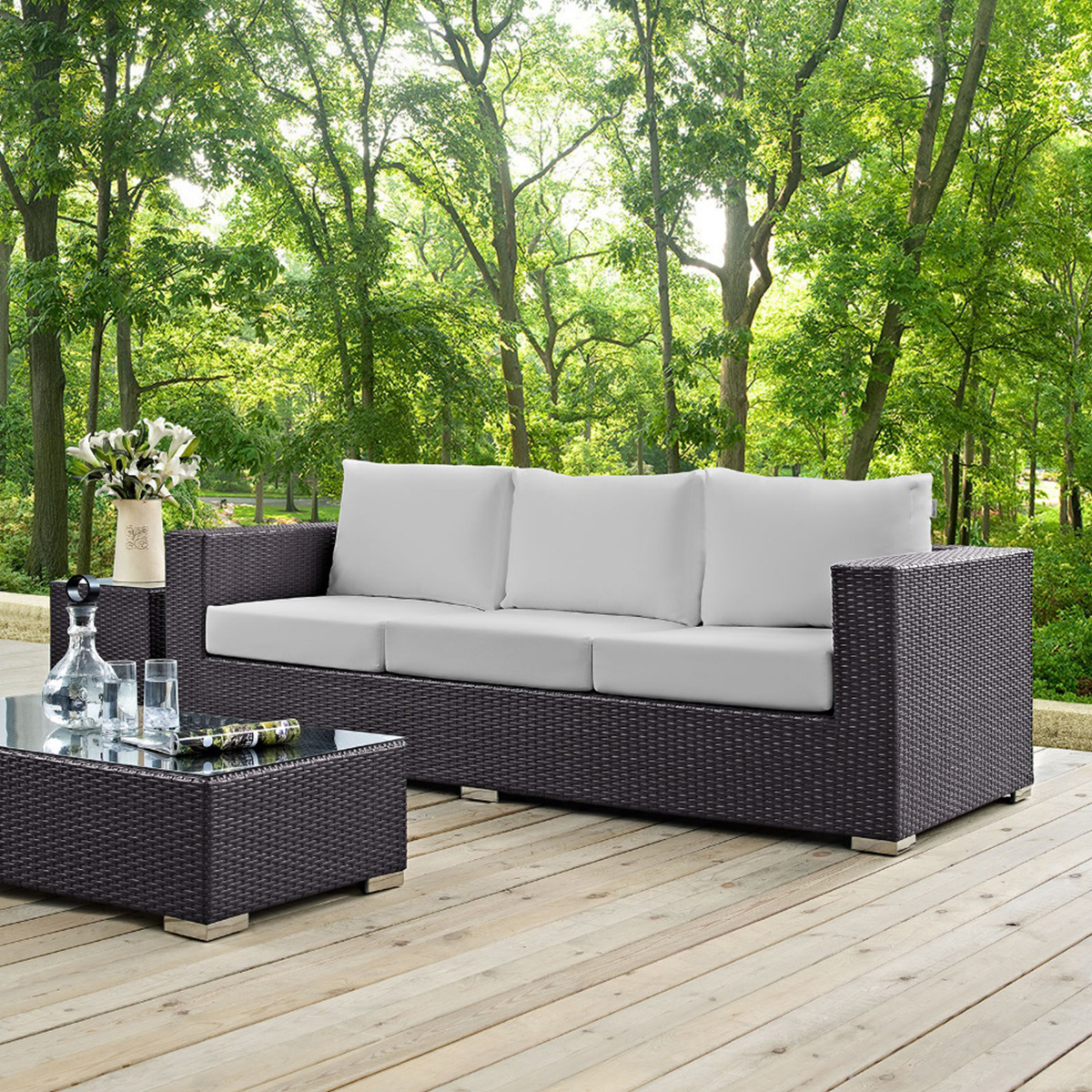 Forever Patio Catalina Sofa with Cushions NC4573S-EX
