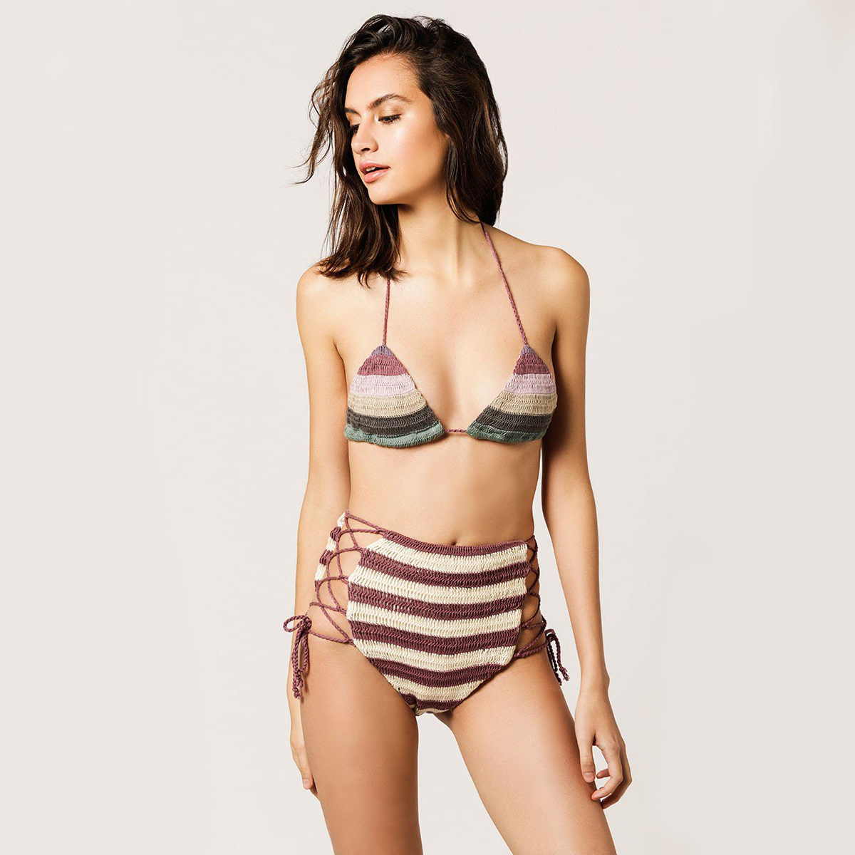 2a3af25914 High-Waisted Swimsuits for the Pool or Beach