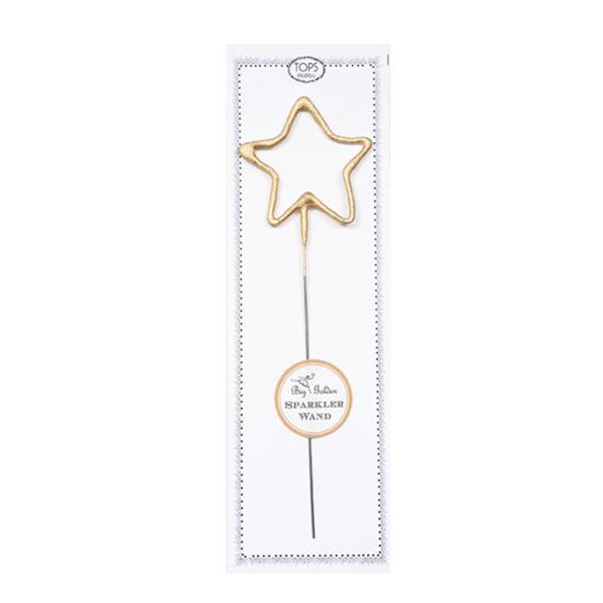 Gold star-shaped sparklers photo