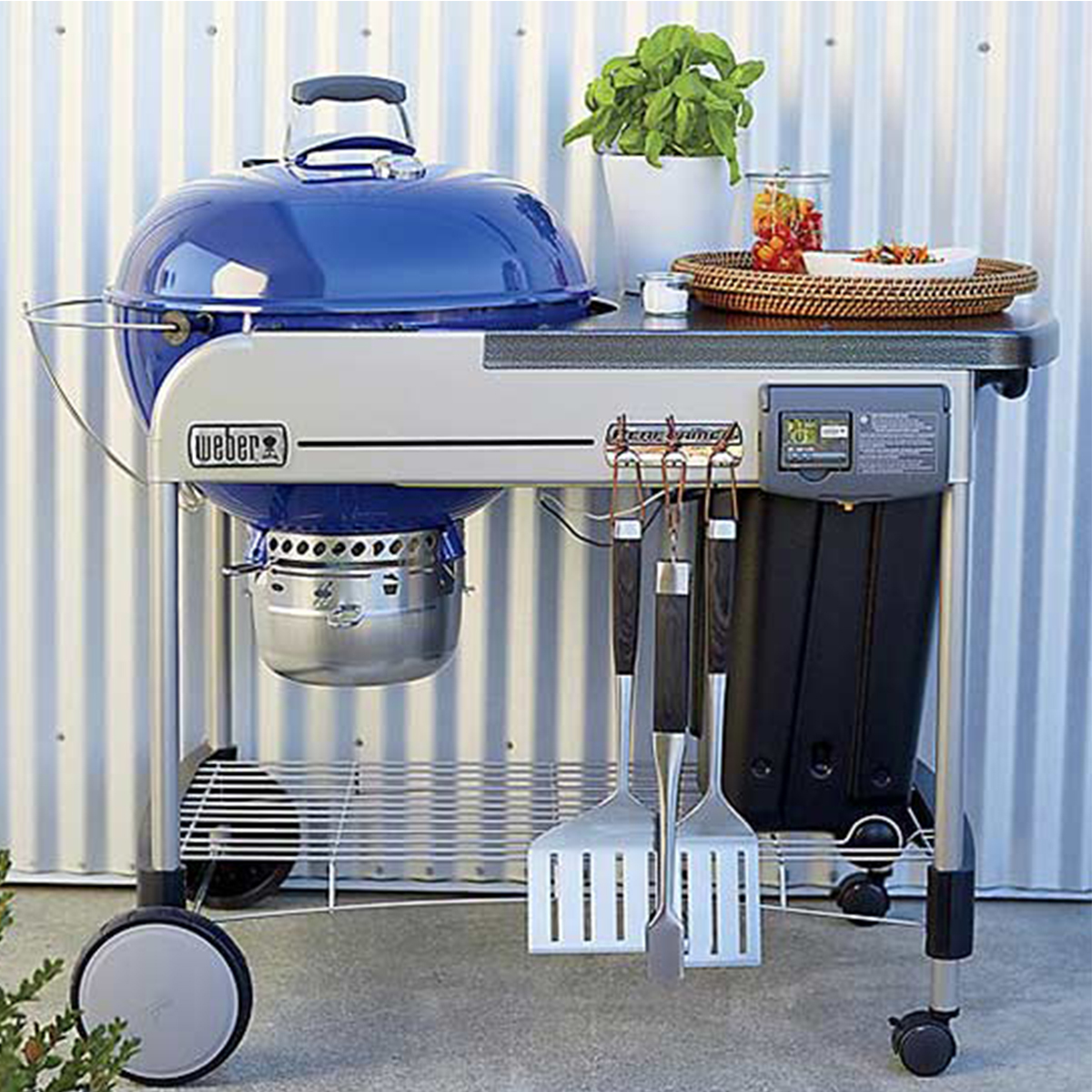 Crate and Barrel charcoal grill photo