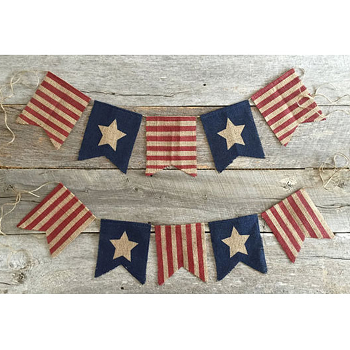 Etsy patriotic burlap banner with stars and stripes photo