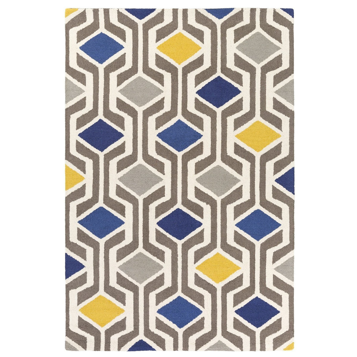 Midcentury modern rug with colorfulp- geometric shapes photo