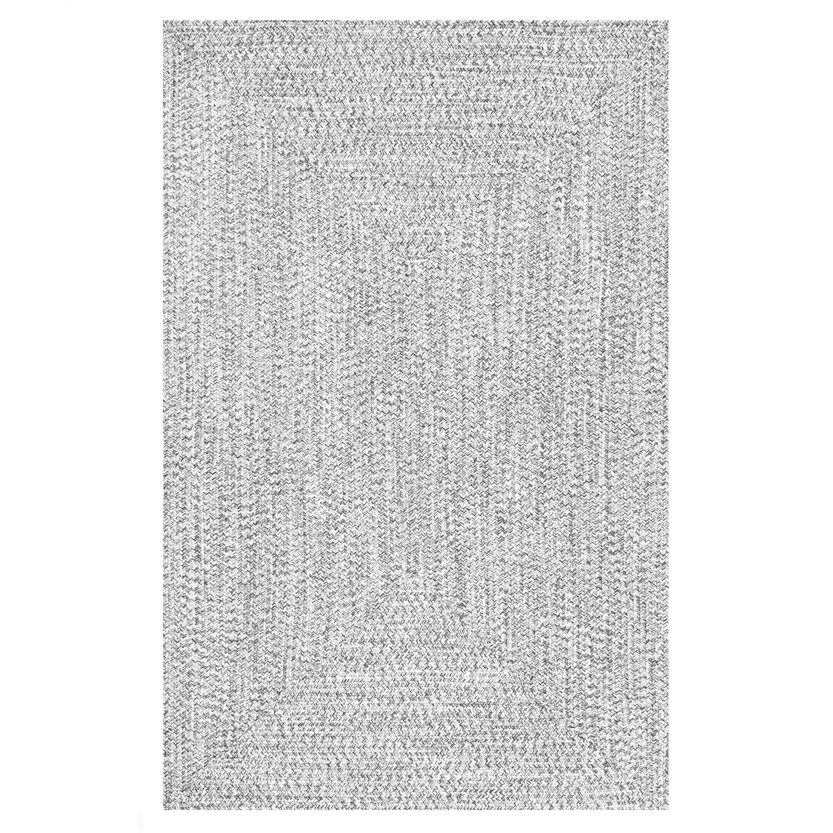 Neutral braided rug made with a braided contemporary design. photo