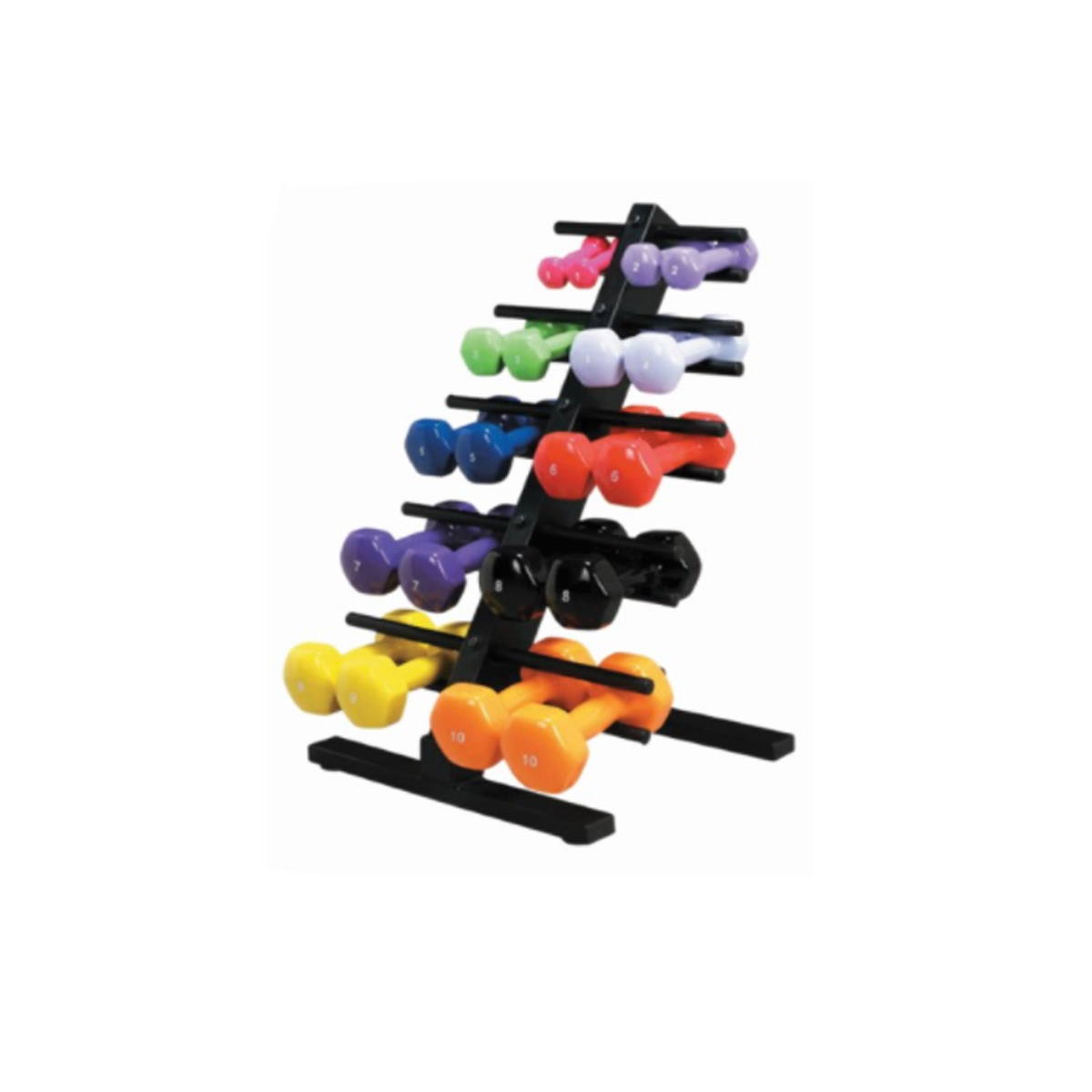 Colorful weights on a stand photo