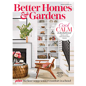 Better Homes & Gardens January 2019 magazine cover photo