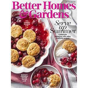 July 2020 cover of Better Homes & Gardens Magazine photo