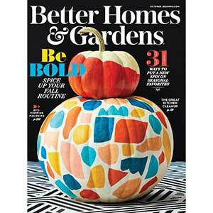 October 2020 cover of Better Homes & Gardens Magazine photo