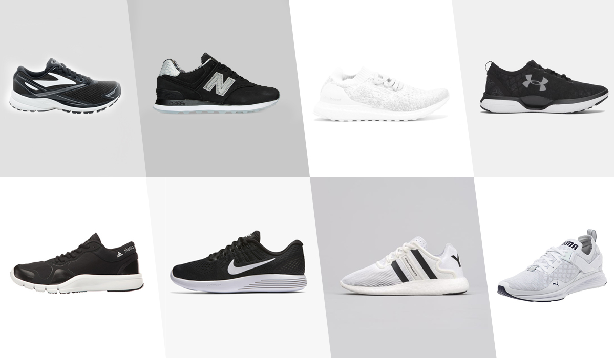 Black & White Running Shoes Are Always Right