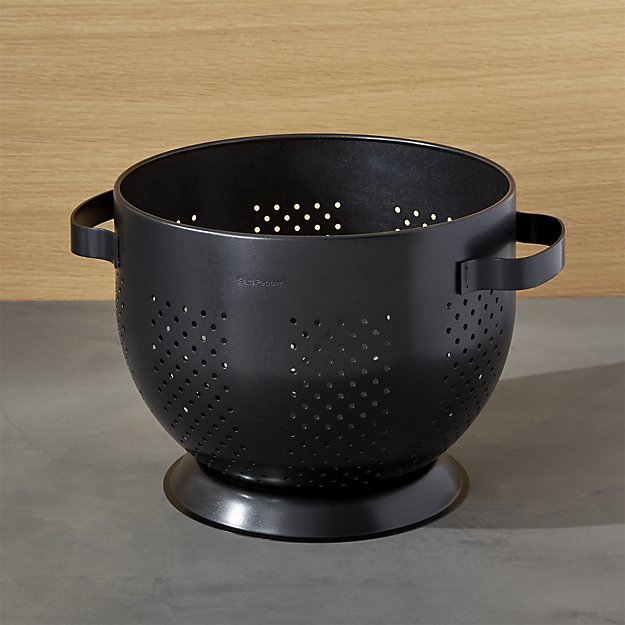 Black strainer with two handles photo