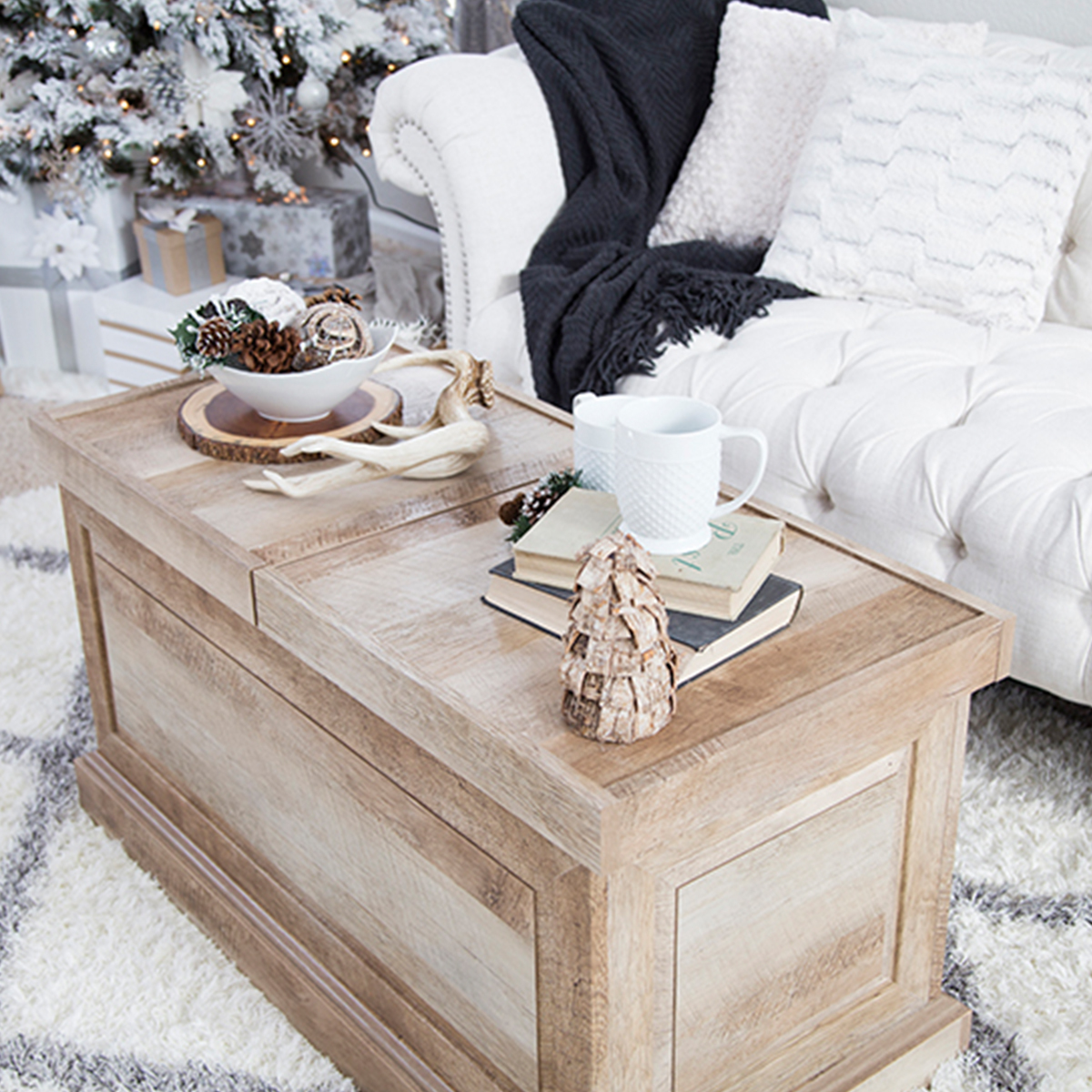 Better Homes & Gardens weathered coffee table photo