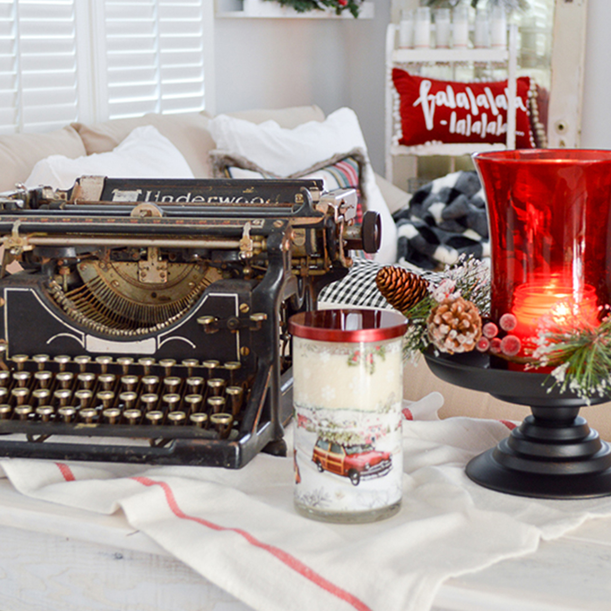 Better Homes & Gardens holiday candle holders photo