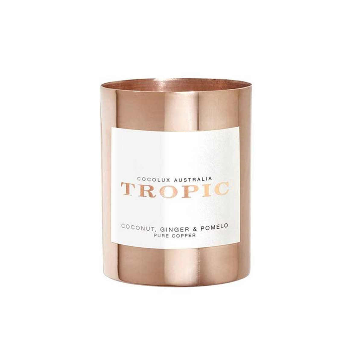 Sweet-smelling candle in a gorgeous copper holder. photo