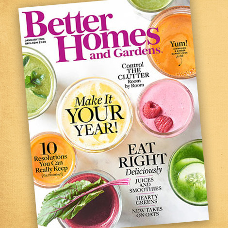 Better Homes & Gardens January 2016 Issue photo