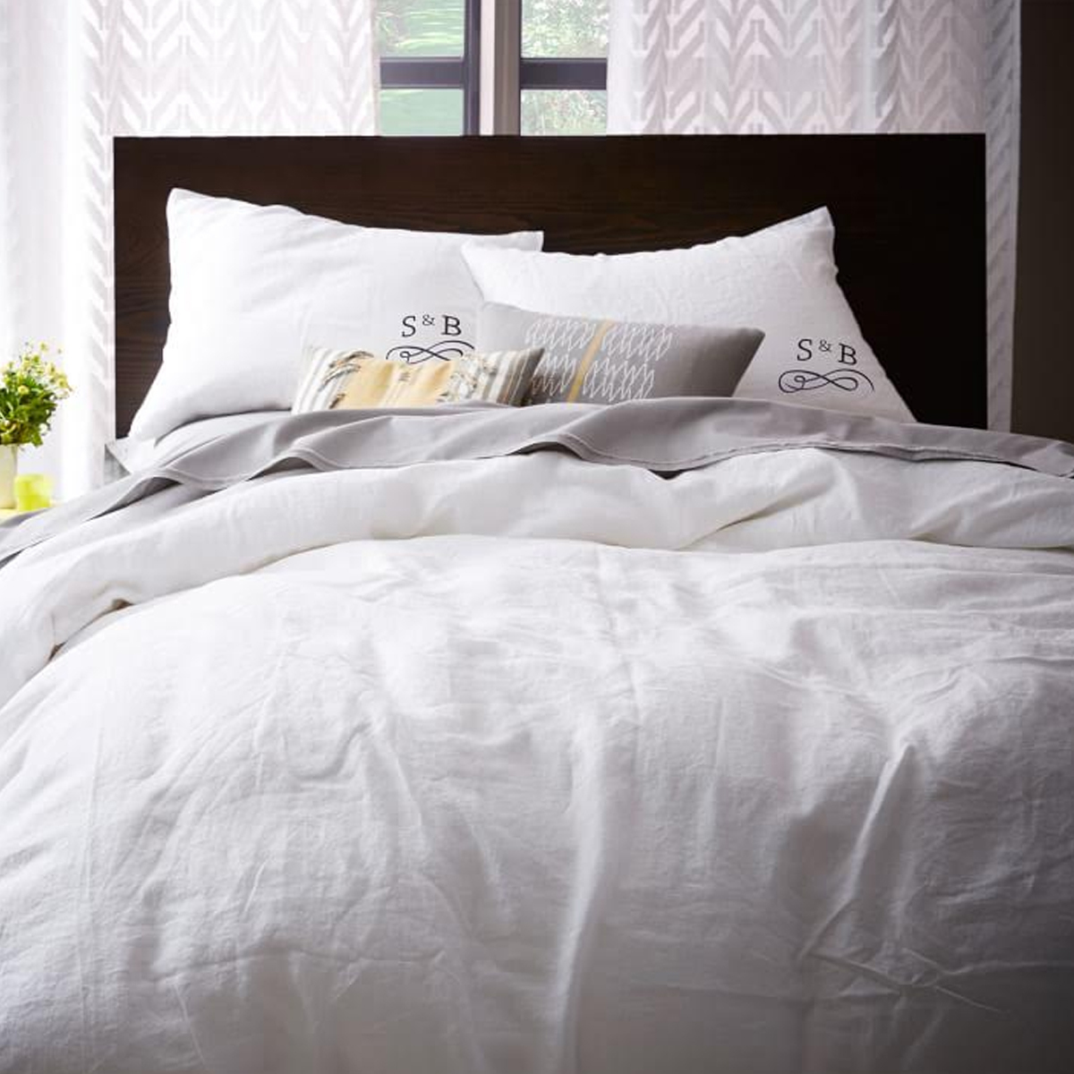 Belgian Flax Linen Duvet Cover and Shams photo