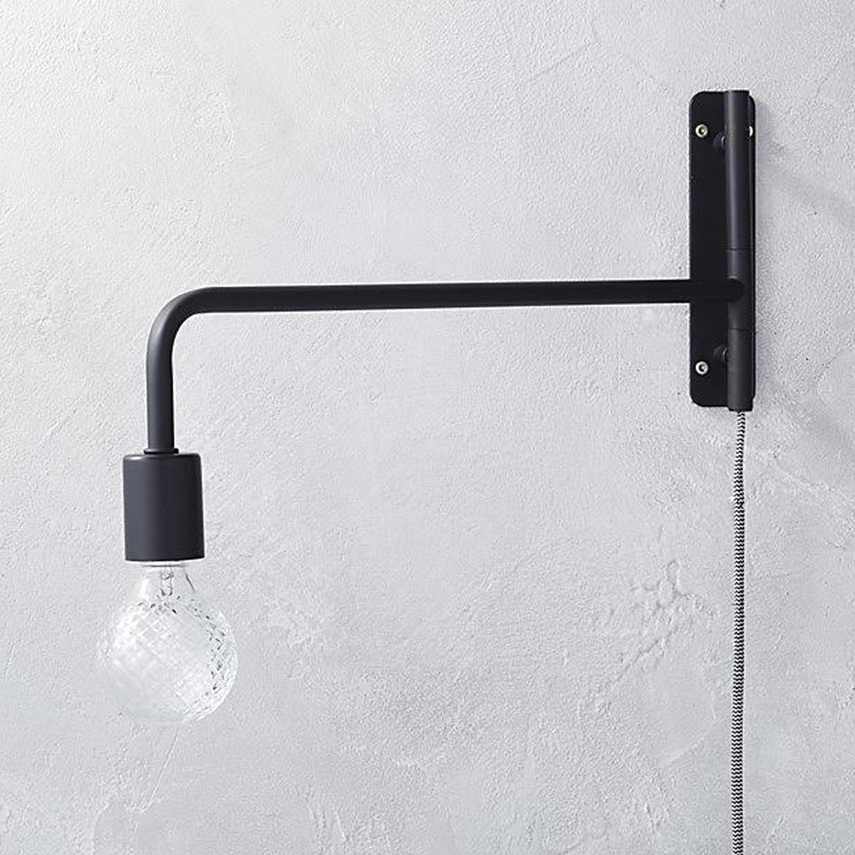Swing Arm Black Wall Sconce photo