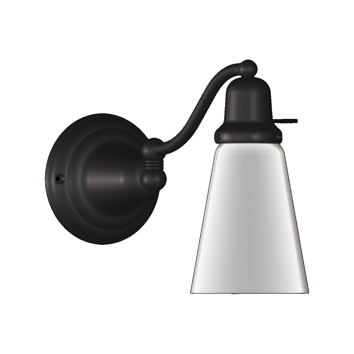 Black Halfway Classic Swing Arm Wall Sconce photo