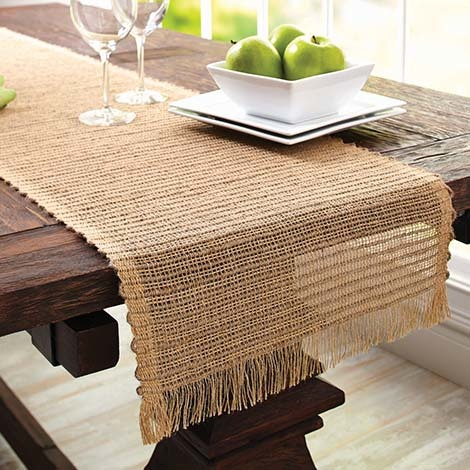 This wrinkle-free table runner gives a natural look to your dining decor. photo