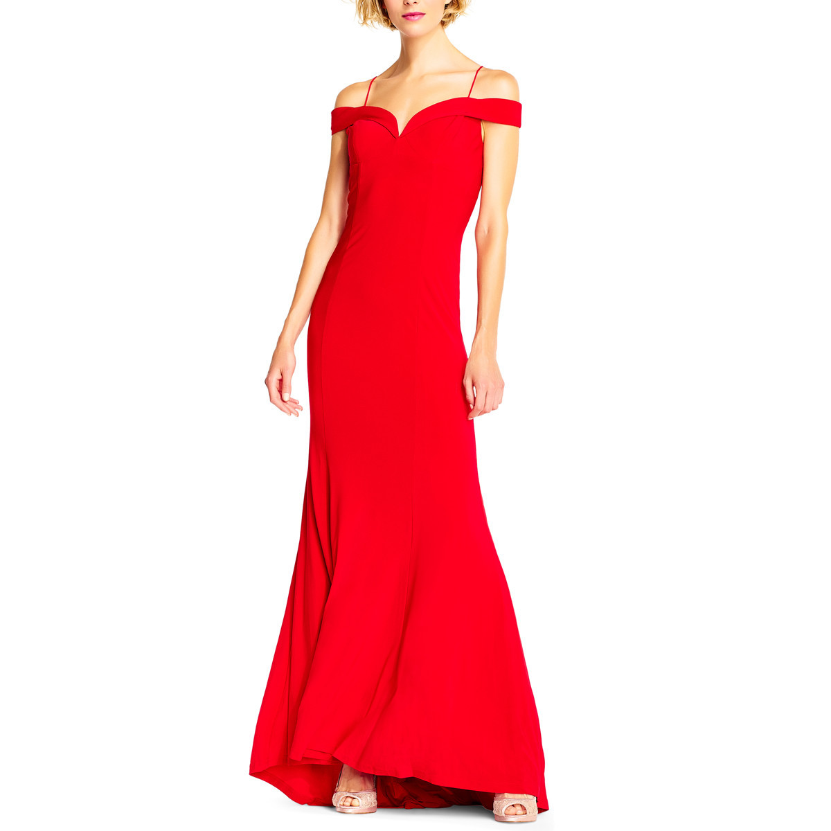 Woman wearing bold mother of the bride dress photo