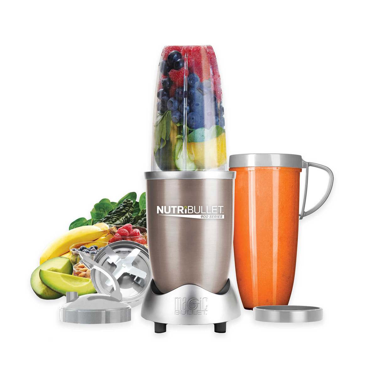 Compact blender with a travel cup photo