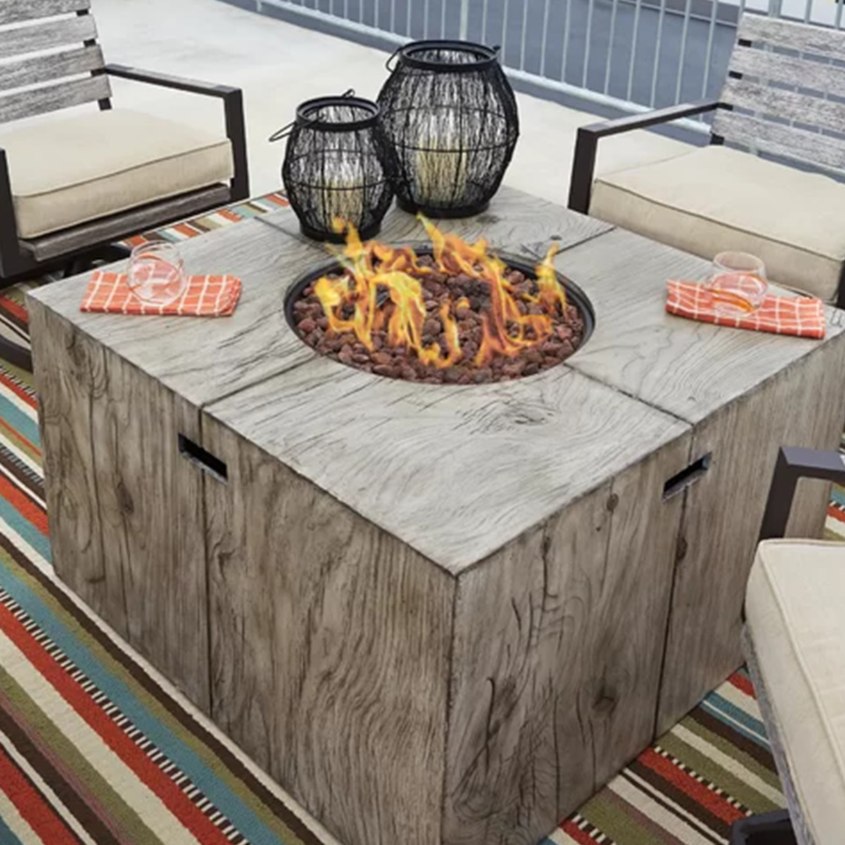 Wayfair propane fire pit table photo