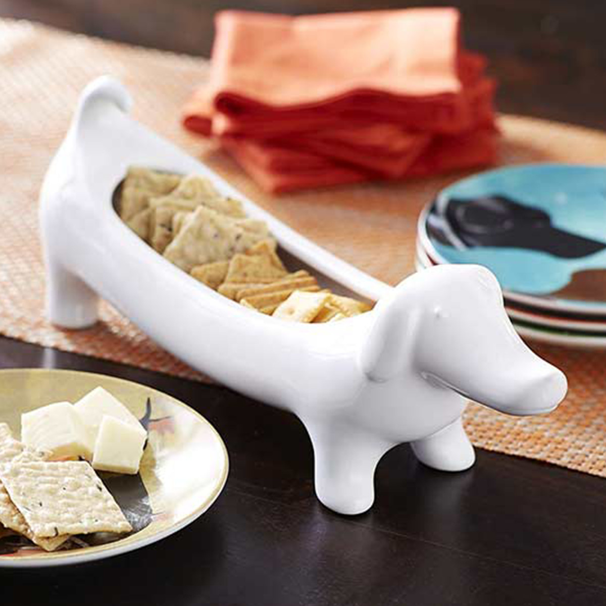 Pier 1 dachshund-shaped dish photo