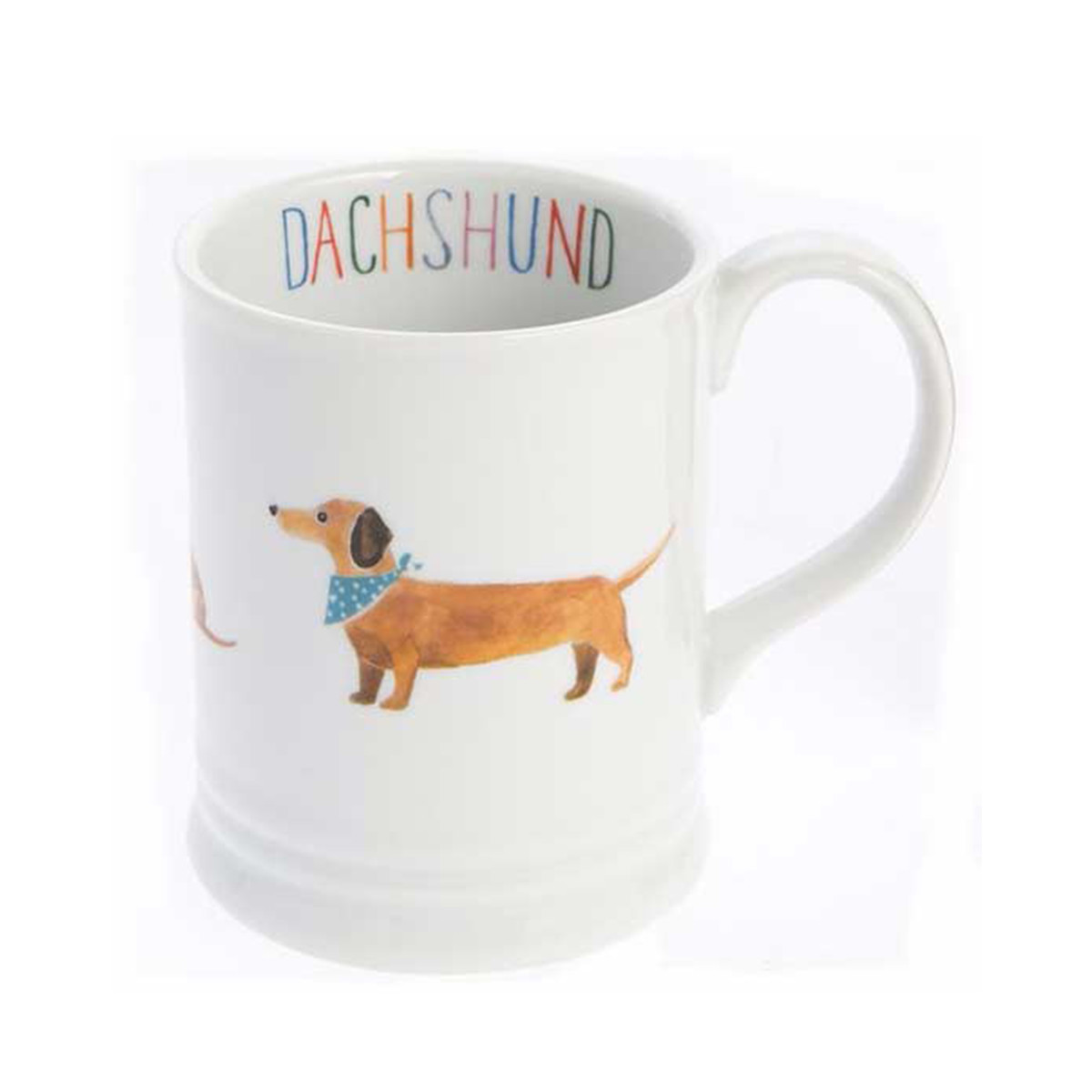 PetSmart white coffee mug with dachshund on it photo