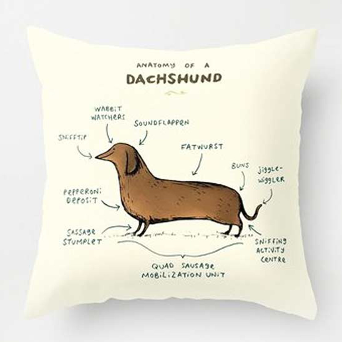Amazon pillow case with dachshund on it photo