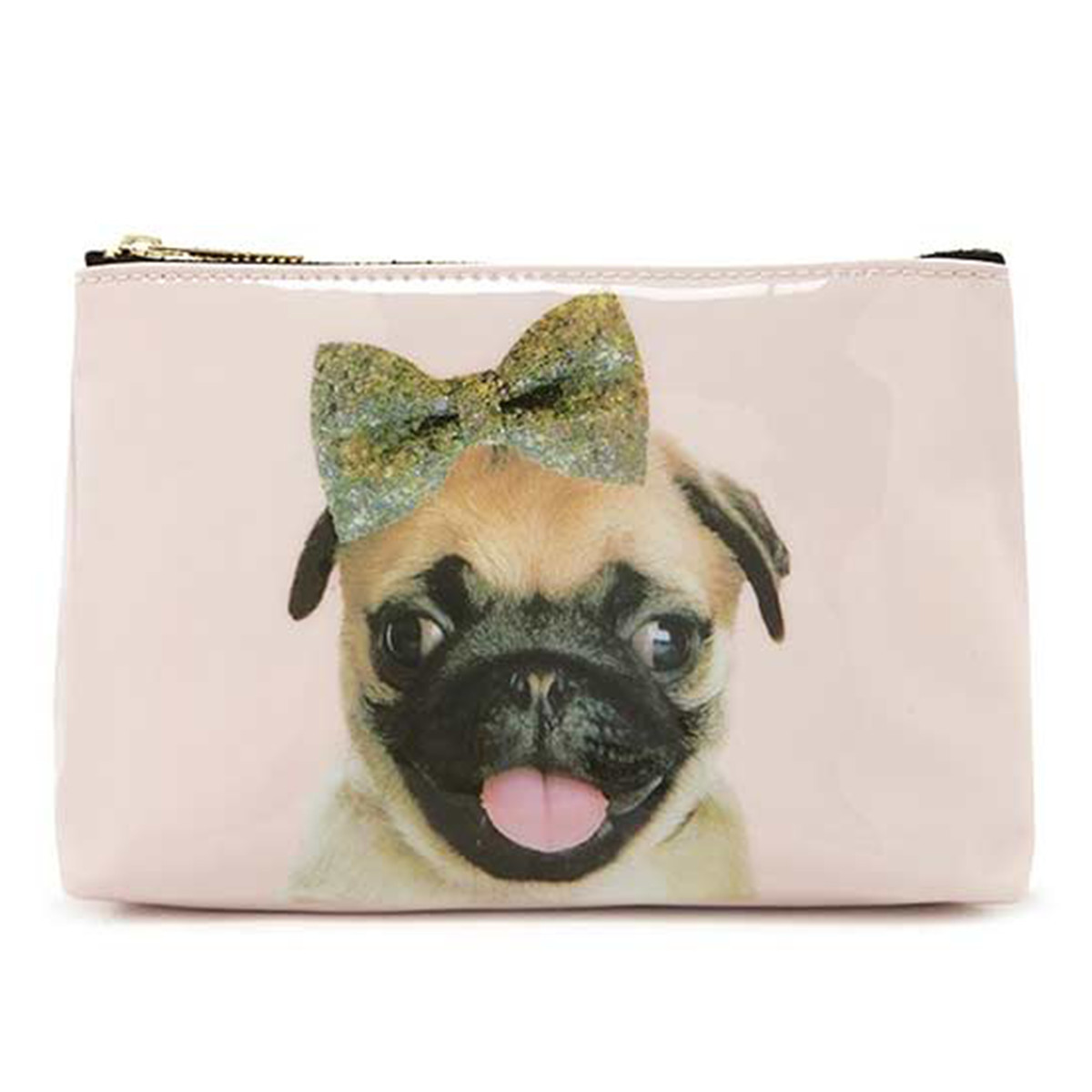 Forever 21 makeup bag with pug on it photo