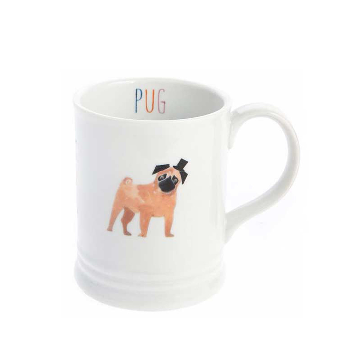 PetSmart white mug with pug on it photo