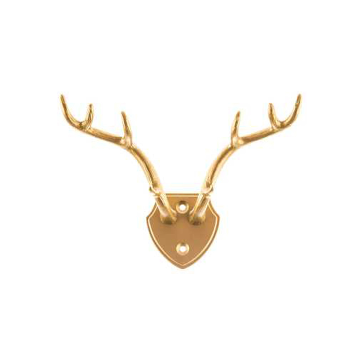Gold Antlers Double Wall Hook photo