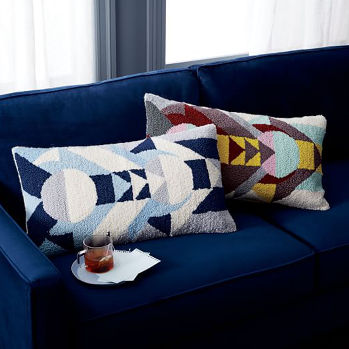 Looped Totem Pillow Cover photo