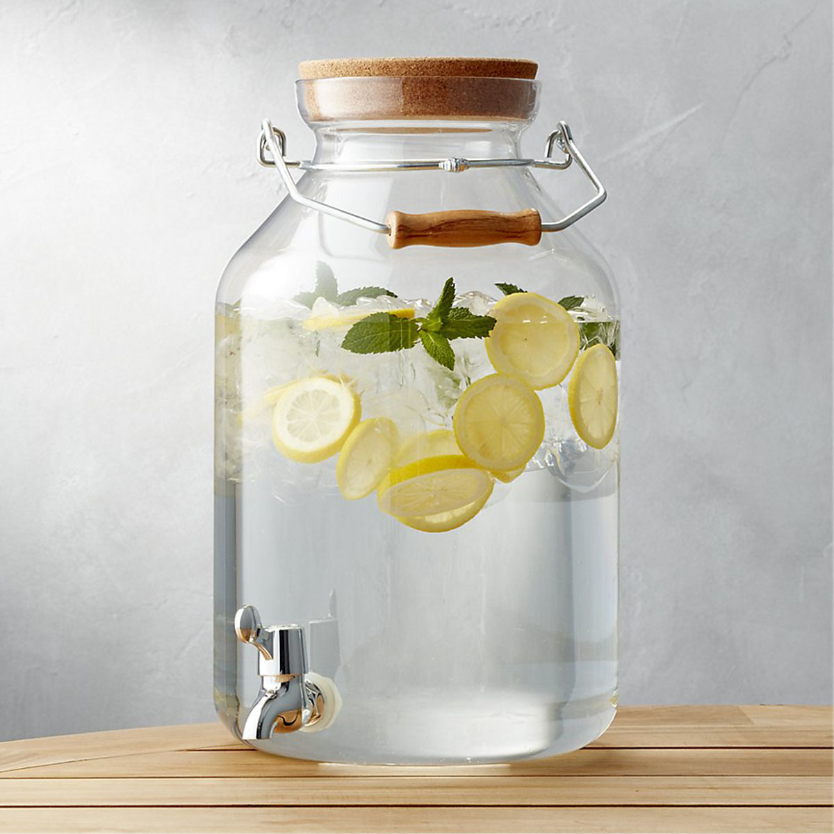 Crate and Barrel acrylic drink dispenser photo
